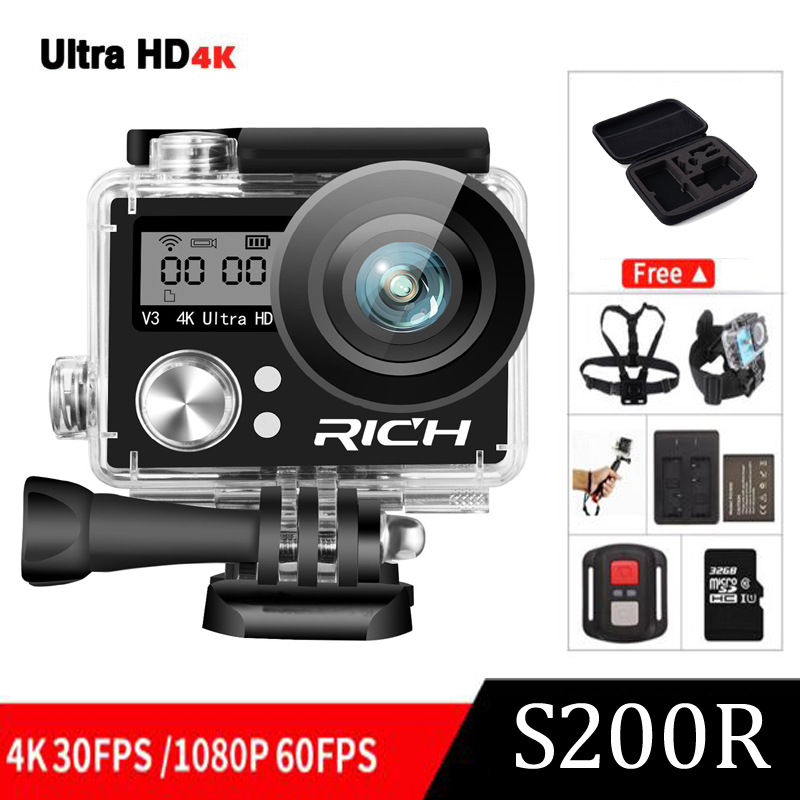Ultra HD 4K wifi (OEM EKEN H9R) action camera 4k/30fps dual screen 2.0 LCD go waterproof pro sj Extreme mini Camcorder