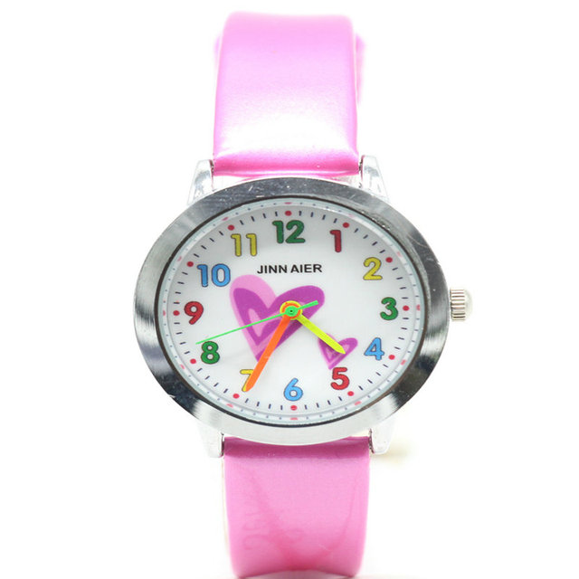 free shipping cute kids watch Middle and little children simple dial easy to lea