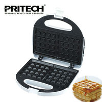PRITECH Kitchen Cooking Appliances Square Shaped Waffle Maker Non Stick Electric Baking Dish Machine 750W