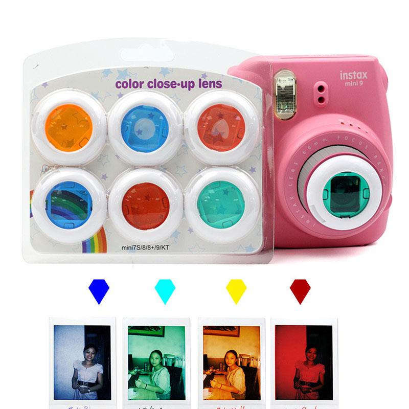 6pcs Colorful Camcorder Close Up Colored Lens Filter For Fujifilm Instax Mini 9 8 8 7s Kt Instant Film Cameras Film Camera Aliexpress