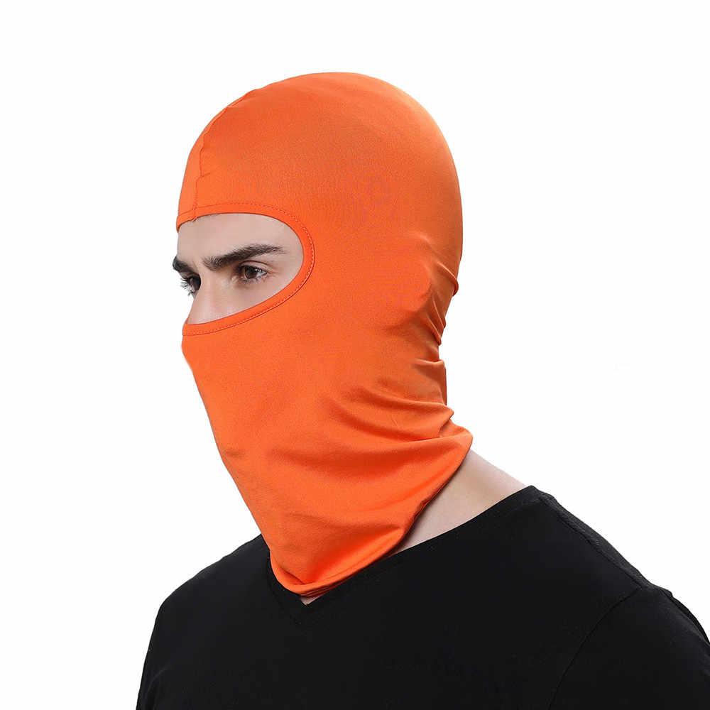 15 # tactique moto Ski masque intégral casque chasse sports de plein air outils Snowboard cagoule multicolore en plein air