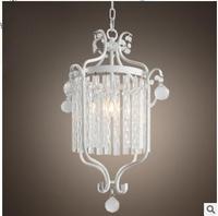 Nordic osobowość twórcza prosty z kutego żelaza kryształowy żyrandol restauracja bar światła w sypialni światło kanału w Wiszące lampki od Lampy i oświetlenie na