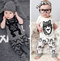 MiMoSa 2016 Boy Children Clothes Sets Sport Suits Kids Cotton Leisure Short Sleeve Casual T-shirt+Trousers Baby Kid Clothing Set