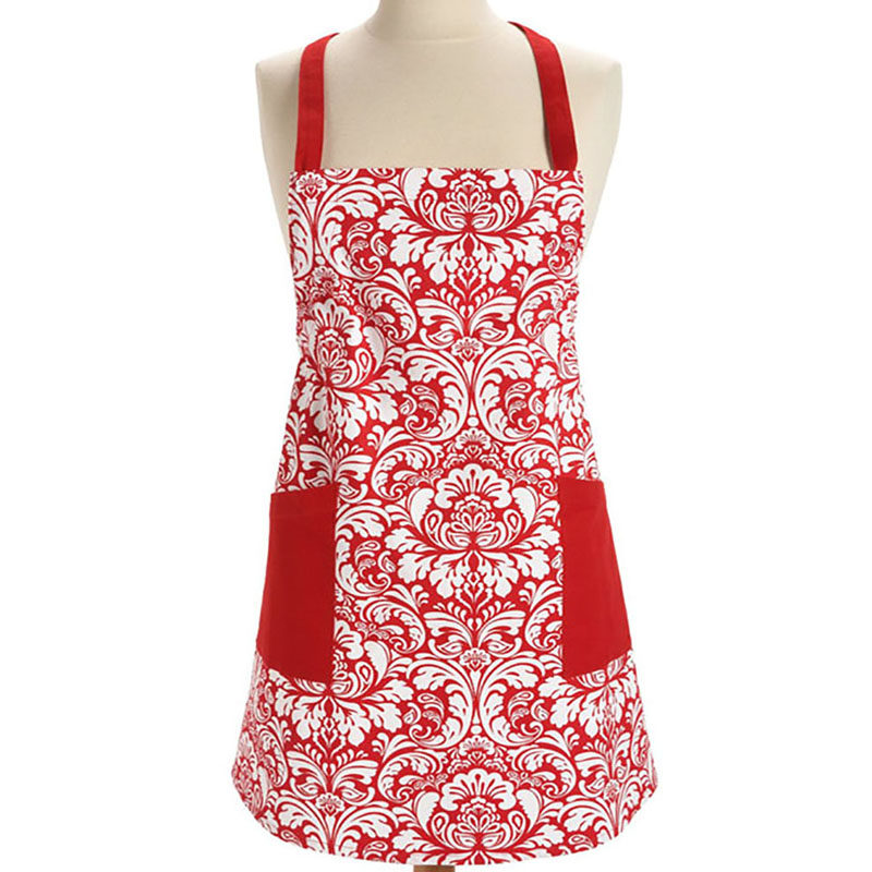 1pcs Hot Sell European Flower Pattern Cotton Apron Woman Adult Bibs Home Cooking Baking Shop Cleaning Aprons Kitchen Accessories Factories And Mines Electronic Components & Supplies
