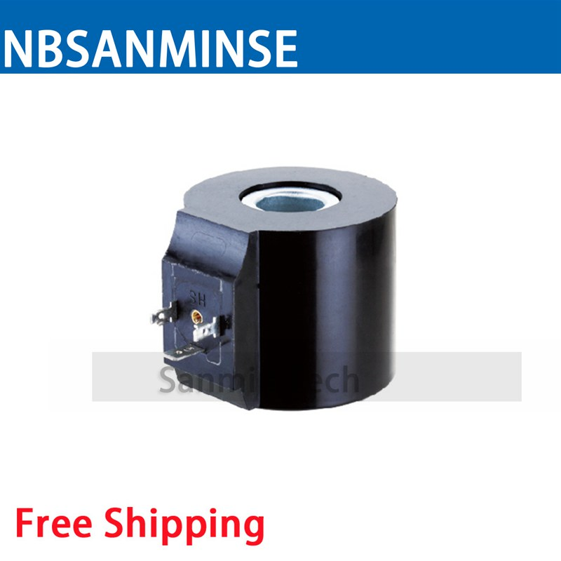 USFC Water Valve Series Coil Electrical Solenoid Valve Coil DC24V Voltage DIN43605A Valve Coil Sanmin