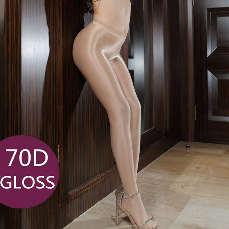 Shinny Gloss Sexy Pantyhose Stockings For Women 70 D Shape Firm Shimmer Female Tights Plus Size Dance Ballet Stockings Medias