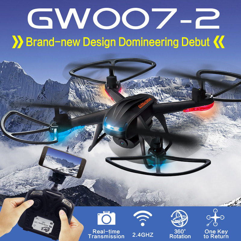 GLOBAL DRONE GW007-2 RC Drone with Camera HD Professional Drone 4CH 6-axis gyro Quadcopter RC Helicopter Drone with Camera l6052w wifi fpv rc drone with hd camera 2 4g 4ch 6 axis gyro rc quadcopter with led light realtime drone remote control toy gift