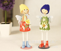 Home Decoration creative crafts factory direct new painted wooden doll stand paragraph LL 1387B