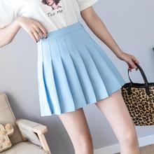 De cintura alta línea Mini Falda plisada para las mujeres de la primavera  de 2019 faldas de verano Rosa Negro cielo azul y blanc. 23b91c57c6ac