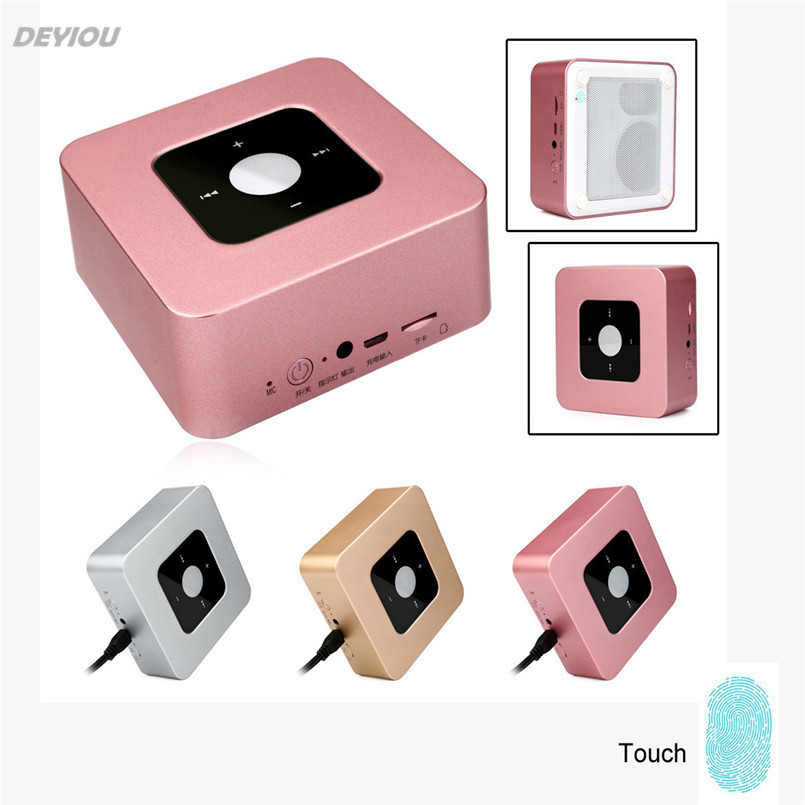 DEYIOU Wireless Bluetooth Double Speaker Mini Stereo Outdoor Portable Subwoofer Touch Screen
