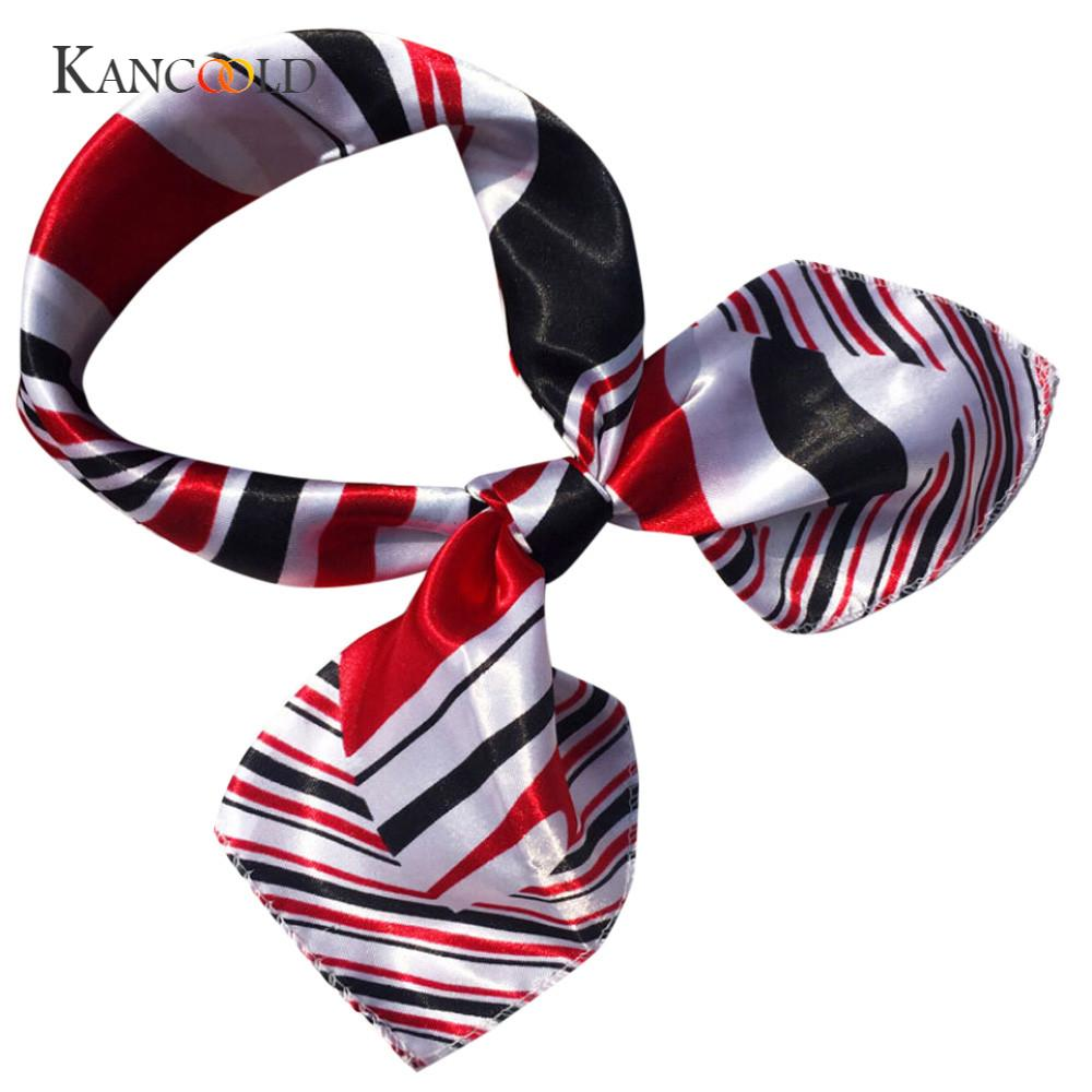 KANCOOLD silk   scarf   shawl Fashion Women Unique Style Square Head   Scarf     Wraps     Scarves   Ladies Printed Kerchief Neck   Scarf   FEB12