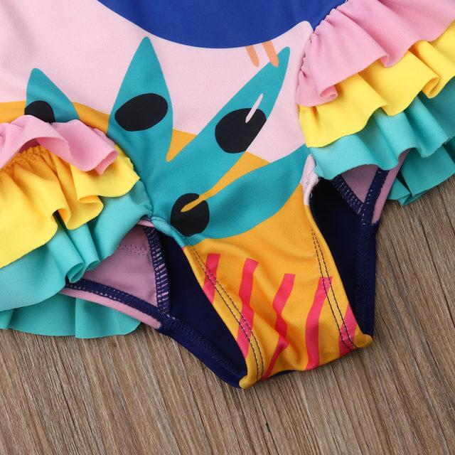 0-5T Kids One-piece Swimsuit Toddler Kids Baby Girls Cartoon Bikini Swimwear Swimsuits Bathing Suit Beachwear 21