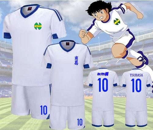 [Customizeable NAME]Anime Captain Tsubasa T-shirt+Shorts Jersey Football Suit Uniform Quick dry fabric Kid&Adult size free ship