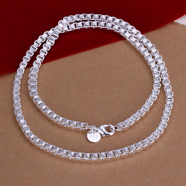e1f3e02ca40 Men s 20   50cm 4mm 925 sterling silver necklaces box chains n016 gift  pouches free shipping-in Chain Necklaces from Jewelry   Accessories on  Aliexpress.com ...