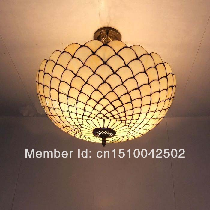 Tiffany Glass Pendant Lamps European style bedroom Stained glass scales minimalist decorative lights DIA 50 CM H 56 CM tiffany glass pendant lamps fashion style 3 lights living room lamps corridor light bedroom lamp dia 56 cm h 65 cm