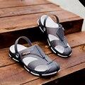 Плюс Размер 45 Мужчины Случайные Сандалии Моды Пластиковые Сандалии Мужские Дышащий Лето Пляжная Обувь Открытый Вода Обувь Скольжения На Тапочки