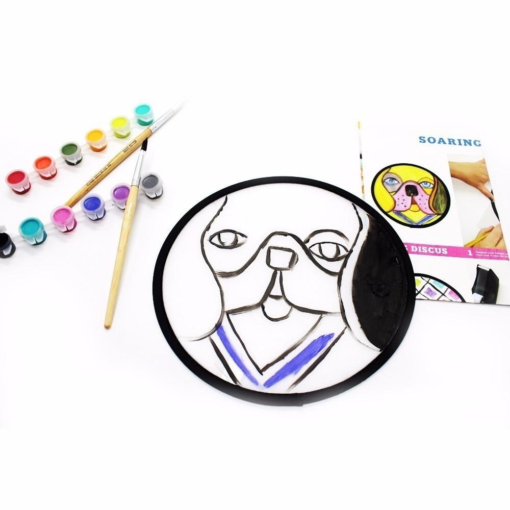 1 stks unieke werk van De circulaire schijf kind eigen art creatie - School en educatieve benodigdheden - Foto 4
