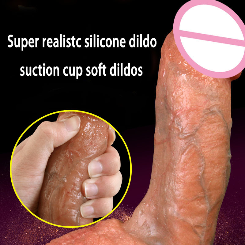 HOWOSEX Super Realistic Silicone Soft huge Dildo Male Artificial Penis Sucker Fake Dick Dildos For Women Adult Sex Toys Erotic howosex 42 5cm huge translucent dildos long soft dildo penis dick dong with suction cups anal adult game woman sex toys