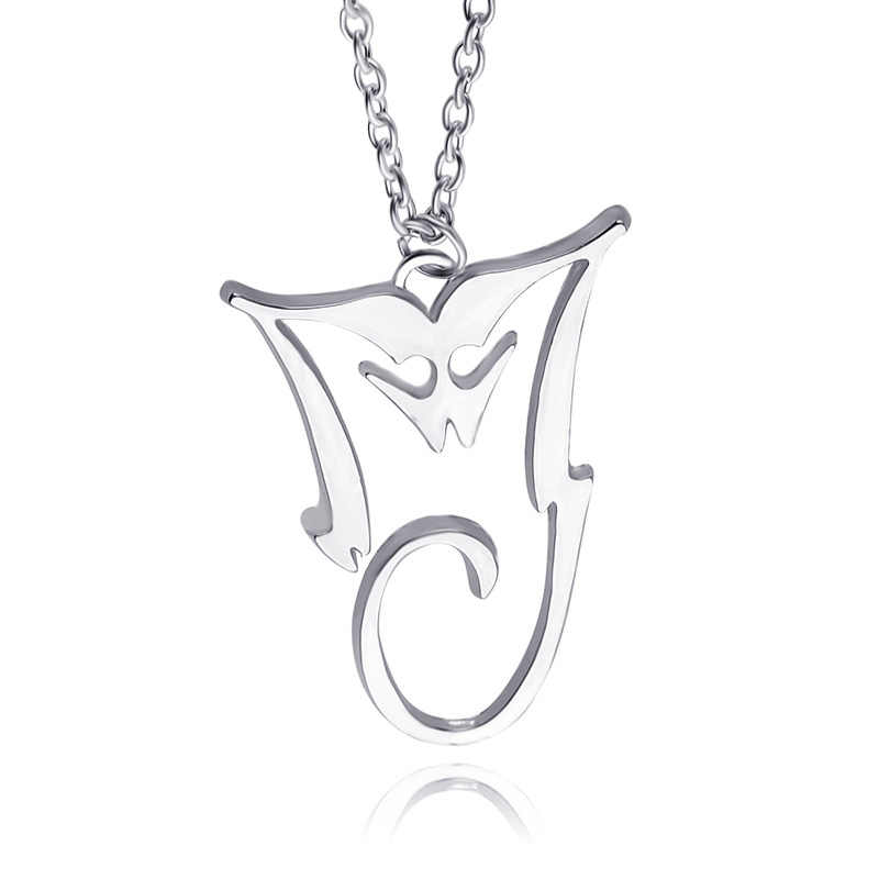 Necklace Silver Pendant Mj King Of Pop