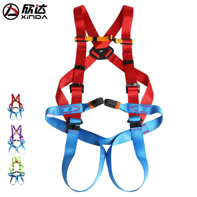 Xinda Aerial Rock Climbing Adult Fullbody Safety Belt Polyester for Downhill Mountaineering Climbing Expansion xinda professional handle pulley roller gear outdoor rock climbing tyrolean traverse crossing weight carriage device
