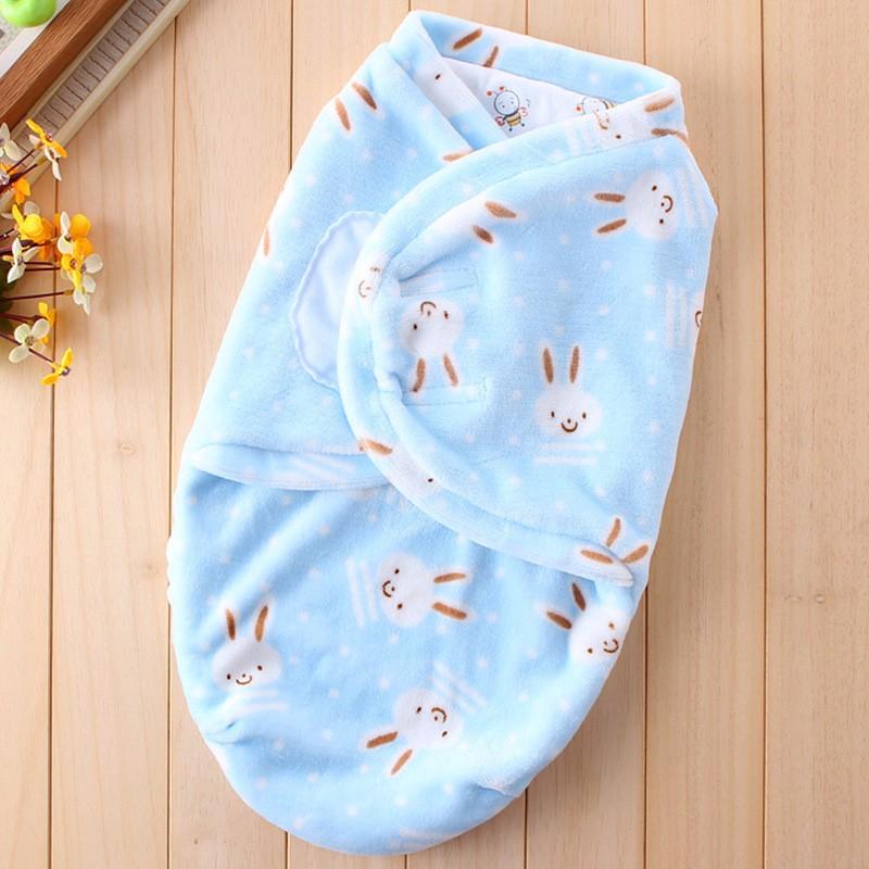 New Baby Receiving Blankets Cotton Newborn Wrap Blanket Warm Soft Sleeping Bag Cartoon Flannel Receiving Blanket For Boys Girls (13)