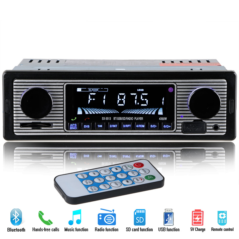 NEW 12V <font><b>Car</b></font> <font><b>MP3</b></font> <font><b>Player</b></font> <font><b>Bluetooth</b></font> Stereo FM <font><b>Radio</b></font> USB <font><b>SD</b></font> AUX Audio Auto Electronics <font><b>Autoradio</b></font> <font><b>1</b></font> <font><b>DIN</b></font> oto teypleri <font><b>radio</b></font> para carro image