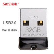 Original SanDisk Cruzer Fit CZ33 USB Flash Drive 64GB Super Mini USB Stick 32GB USB 2.0 Pen Drive 16GB Memory Stick