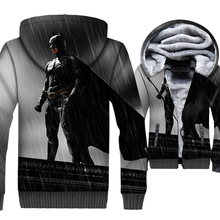 New Arrival Batman 3D Hoodies 2019 Autumn Winter Style Super Hero Jacket Men Long Sleeve Hooded Thick Mens Sweatshirt For Adult