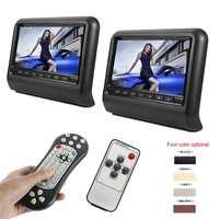 DHL 9 дюймов Универсальный подголовник автомобиля dvd-плеер с HDMI 800x480 ЖК-дисплей Экран сиденье Мониторы Полная функциональная Дистанционное уп...