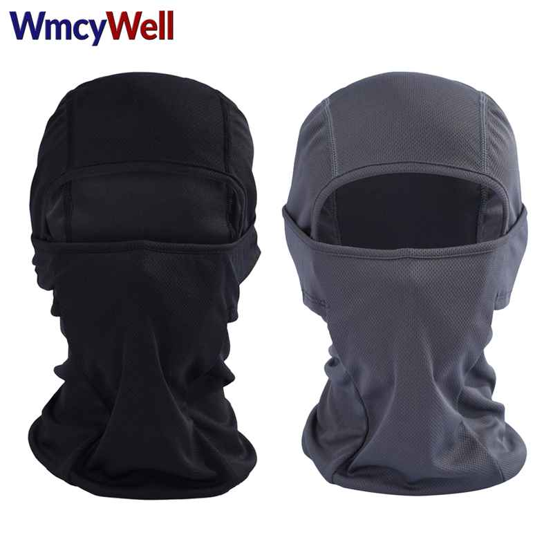 WmcyWell Outdoor Breathable Riding Balaclava Cycling Ski Masks Hiking Tactical Cover Hats Motorcycle Protect Full Face Mask