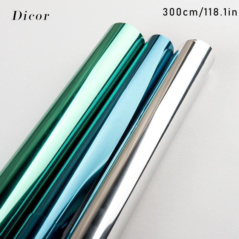 40/50/60*300 cm reflexivo uv janela filme adesivo auto adesivo espelho filme de vidro transferência térmica vinil vidro adesivos