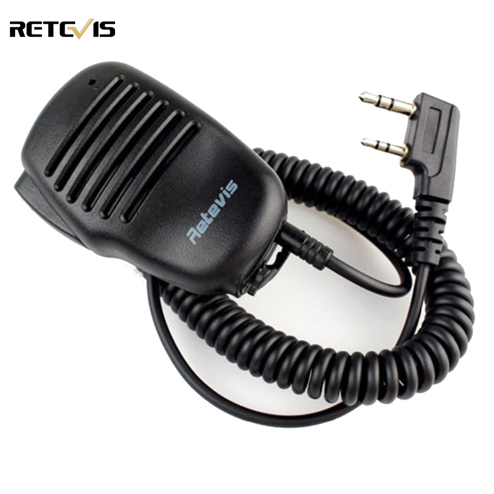 2 Pin PTT Speaker Mic Per KENWOOD BAOFENG UV-5R RETEVIS H777 RT5R RT3 RT5 RT80 PUXING TYT Radio di Prosciutto Walkie Talkie C9021