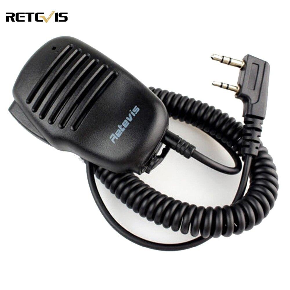 bilder für 2 pin ptt lautsprecher mic für kenwood baofeng uv-5r retevis h777 rt-5r rt3 rt5 puxing tyt ham radio walkie talkie C9021