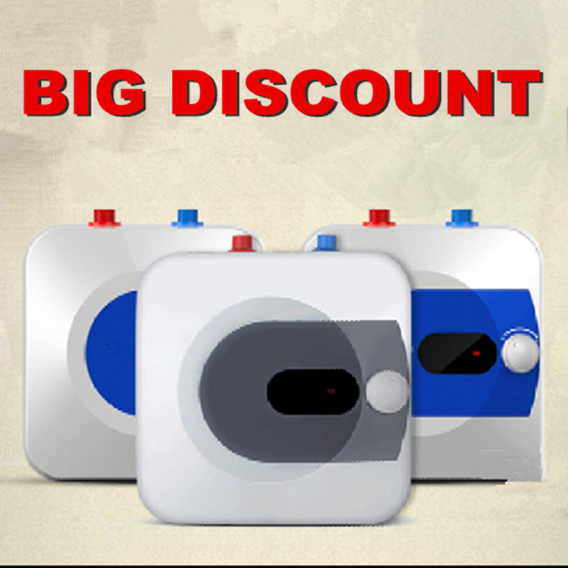 electric water heater mini rapid tank bathroom induction hot shower 10l storage horizontal square boiler vanward
