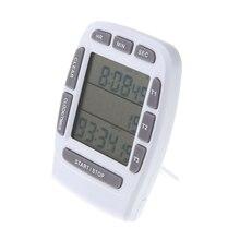 Pantalla Digital LCD Temporizador De Alarma con Triple Cronómetro Temporizador de Cuenta Atrás de $ Number Líneas