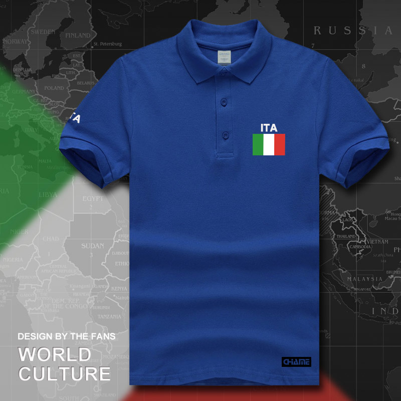 Italy Italia Italian   polo   shirts men short sleeve white brands printed for country 2017 cotton nation team flag ITA country tops