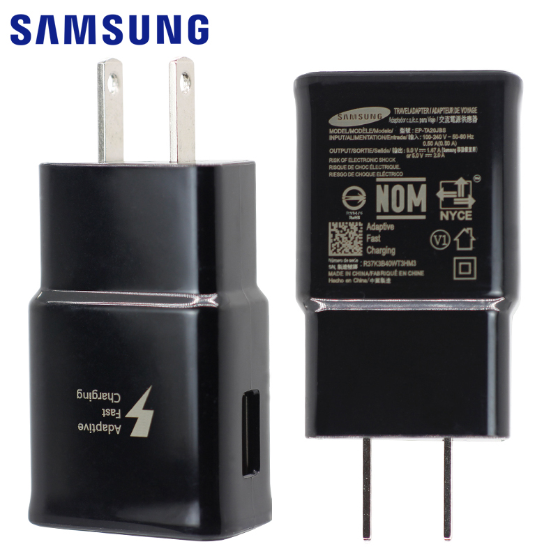 SAMSUNG Original Fast Wall Charger US EU Plug for Galaxy S8 S8+ S9 Note 8 9 Adaptive Fast Charge 9V 1.67A USB Type-C Cable 1.5m