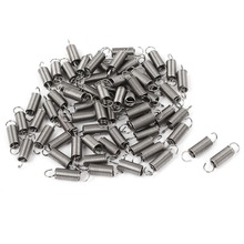66pcs 12mm Length 0.4mm Wire Diameter 3mm Outer Stainless Steel Dual Hook Small Tension Spring Hardware Accessories