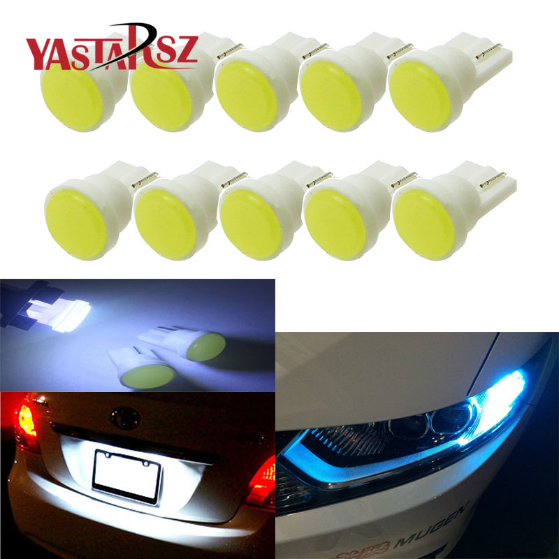 Car led 10pcs/lot T10 194 168 W5W 6 LED COB Chip Car Door Light Clearance Lights Wholesale Car Side Light Bulbs Car styling