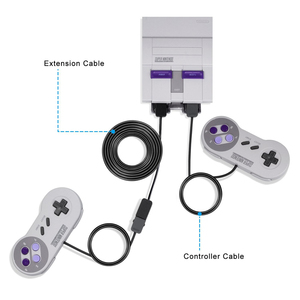 Image 4 - 2 stks Gamepad Controller Verlengkabel 3 M voor SNES Klassieke Editie Controller 2017 voor Nintendo Classic Mini/Wii Controllers