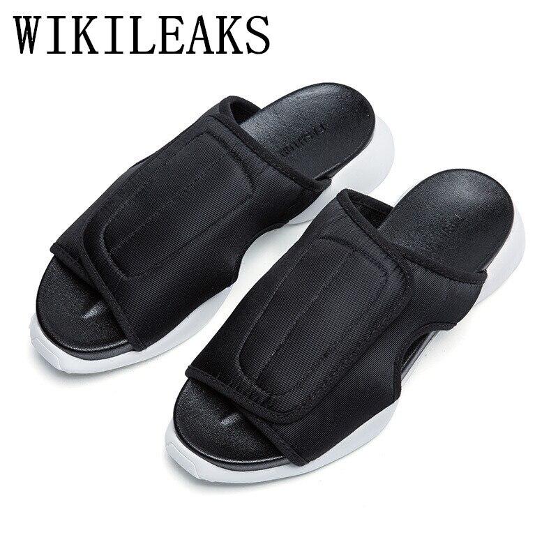 Designer Version Herren Sommer Strand Sandalen Luxus Marke Plattform Casual Schuhe Männer Flache Hausschuhe Zapatos Hombre Chinelo Masculino Elegante Form
