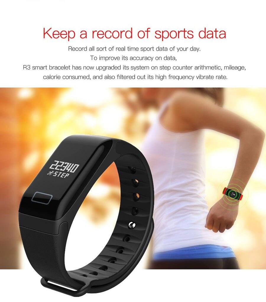 Bluetooth Smart Watch Bracelet Wristband BOAMIGO Sleep Tracker Smart  Bracelet Heart Rate Monitor Waterproof Sport Watch