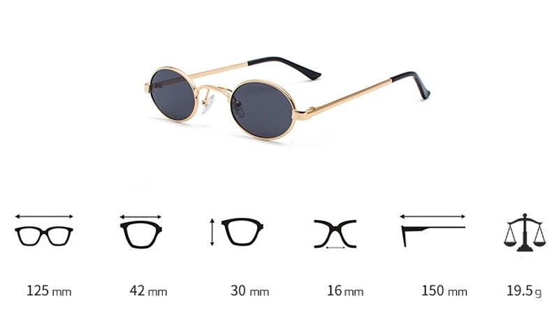 Tiny Oval Sunglasses Men detail (1)
