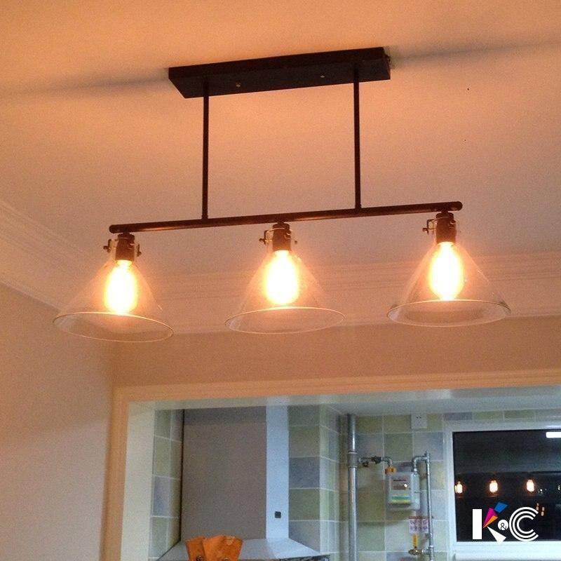 Loft vintage pendant lights Iron Pulley Lamp Bar Kitchen Home Decoration E27 Edison Light Fixtures droplight Luminaria Pendente