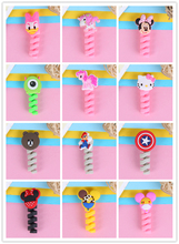 Cartoon Spiral Tube Cable Winder Protector Wire Cord Protetor for Apple Watch iPhone or USB cable protector цена и фото