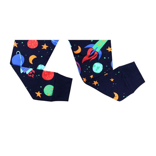 بيجامات للأطفال جديدة لعام 2019 ملابس نوم للأطفال بيجامات صاروخية للأطفال من سن 1 إلى 8 سنوات ملابس نوم شريطية للبنات بيجامات للأطفال 5