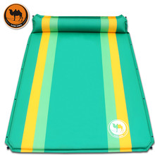 2 Person Automatic Inflatable Mattress Outdoor Camping Mat Pad Self-Inflating Moistureproof Picnic Tent Mat with wnnideo 2 person camping pad with pillows self inflating damp proof durable lightweight for outdoor activies carry bag included