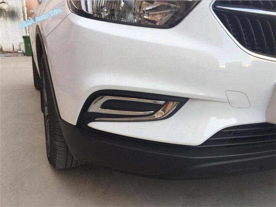 Pour Opel Vauxhall Mokka Buick encore 2016 2017 2018 ABS Tête avant Feu de Brouillard Couvercle De La Lampe Garniture 2 Pcs/ensemble
