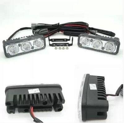Высокое качество Универсальный 2 супер яркий Водонепроницаемый авто светодиодными фарами дневного света DRL день вождения комплект свет стайлинга автомобилей