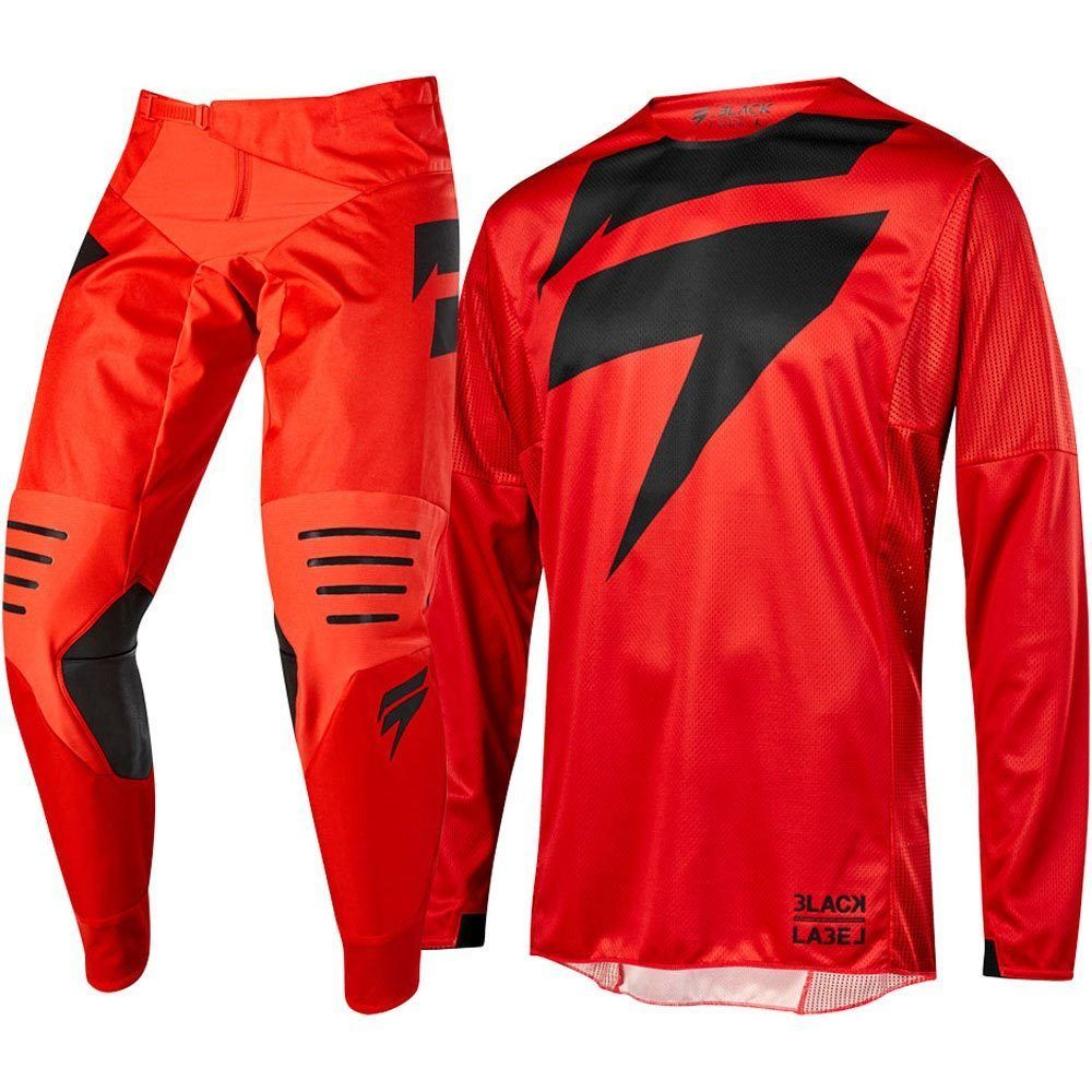 wholesale NEW MX 2019 3LACK Mainline Red Jersey Pants Adult Motocross Gear Set Jersey Pants Racing
